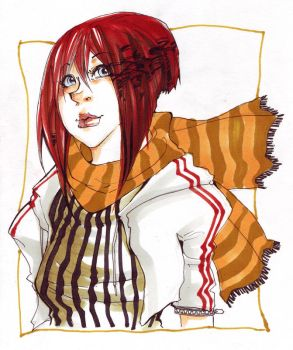 Patterns - Red Hair by Mielz