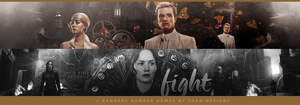 2 Banners Hunger Games by shad-designs