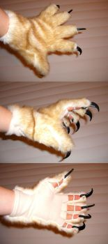 Clawed cat gloves by queza7