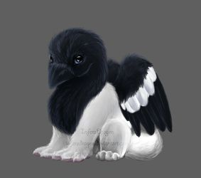 Gryphon-Magpie by InferaDragon