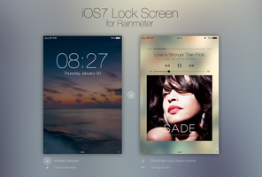 iOS7 Lock Screen by rabra