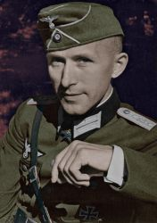 Ernst Junger in Paris colorized by OldHank