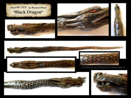 ''Black Dragon'' wand - details by PraeclarusWands
