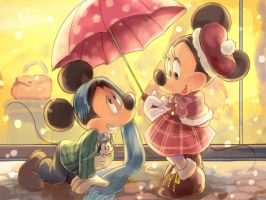 Mickey and Minnie by Natsu-Nori