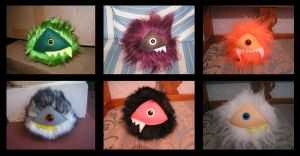 6 One Eyed Mutant Tribbles by Gilligan-