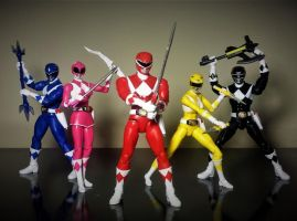Power Rangers Legacy Collection - OG MMPR Weapons by ULTIMATEbudokai3
