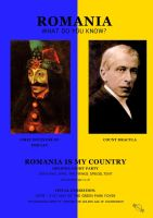 Romania Is My Country Poster2 by JDWasabi