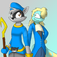 Sly Cooper and Kuzoura by GaneneTheInkling