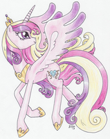 Princess Cadance by Oriwhitedeer
