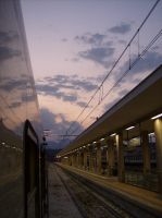 train and sky by lorygol