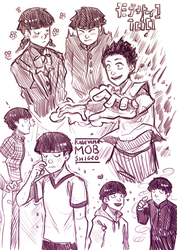 Mob Psycho 100: Mob Sketches by Auro-Cyanide