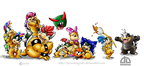 Bowser's 8 problems by PrincessYoshi