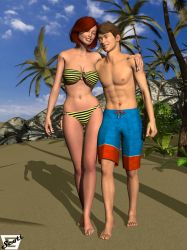 William and Yulian on The Beach by ImfamousE