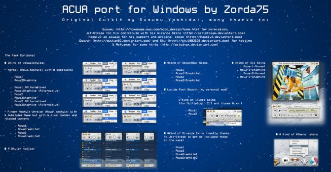 Acua 1.0 Guikit for windows by zorda75
