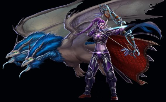 ...Commission: Night Elf Huntress... by ShadowPriest