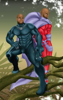 Black Panther/Magneto Commission by Akeem