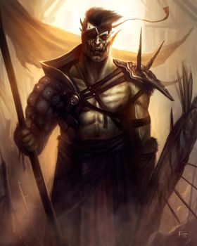 Orc Warrior by TomEdwardsConcepts