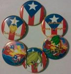 Puerto Rico Pride-Set of 6 buttons, Pinback 2.25 by MaverickTears