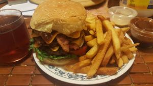 Adambomb double bacon cheeseburger with fries. by adamnorde583
