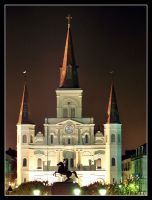 Cathedral at Night by jensaarai