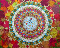 Huge Mandala2 My Neighbourhood - Traditional work by Lou-in-Canada
