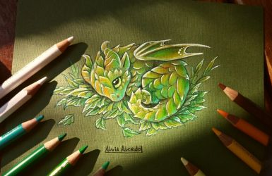 Forest baby dragon by AlviaAlcedo