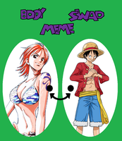 Nami Luffy switch bodies by TheWalrusclown