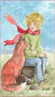 The Little Prince and His Friend by Leochi