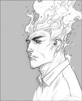 Human Torch by jeffwamester