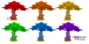 Great Fruit Trees (Mario Story Fruit Shake) by DerekminyA