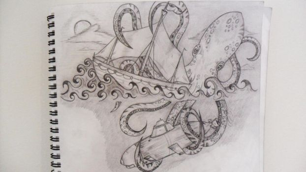Giant octopus by NadineSavage