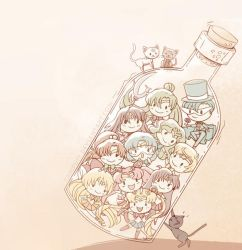 Sailor Senshi in a bottle by Koizumi6456