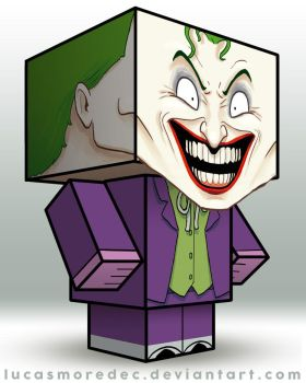 Joker - Cubeecraft by Lucasmoredec