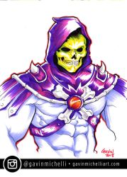 Skeletor Marker Drawing by GavinMichelli