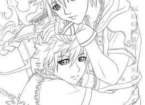 KH2 - My Other - Lineart by Nijuuni