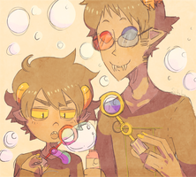 HS : BUBBLE BLOWING DOUBLE BABY by pikagirl65neo