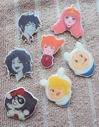 Adventure Time + Harley Quinn Brooches by blua