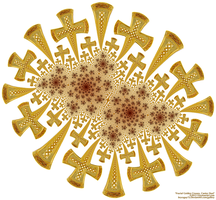 Fractal Golden Crosses, Cantor Dust by bryceguy72