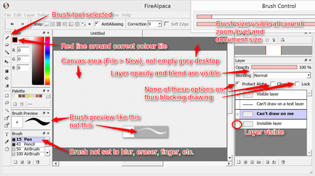 Some things to check if FireAlpaca cannot draw by obtusity