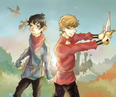 Tale of king and dragonlord by merrinou