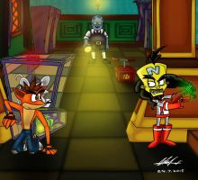 Classroom Chaos - Crash and Cortex by Nl-Rad