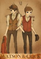 Watson and Crick by MissDarling23