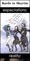 .Bards in Skyrim. by JustBast