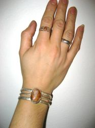 ring and bracelet set by psychopunk5000