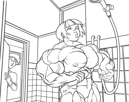 Joanna's showertime 01 by ayanamifan