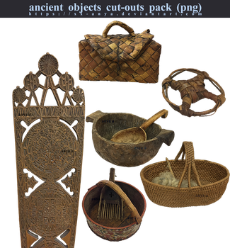 Ancient Objects Pack, PNG by xx-Anya