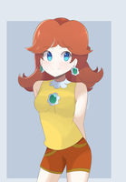 Mario Tennis Aces - Daisy by chocomiru02