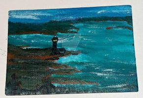 5x7 Lighthouse by wolf-girl87