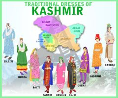 Traditional Dresses of Kashmir by ArsalanKhanArtist
