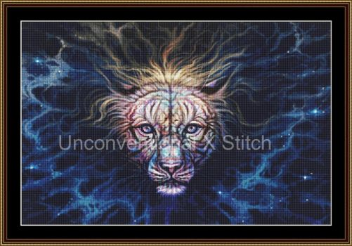 Big Cat tiger cross stitch pattern - Emerge by JodyS